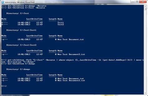 PowerShell script to move files and folders including