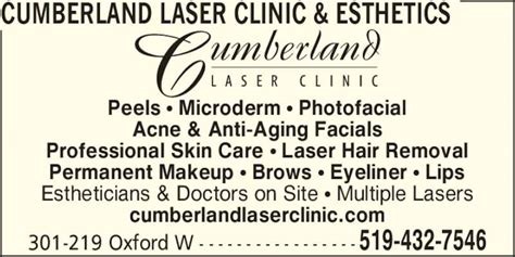 Cumberland Laser Clinic - Opening Hours - 301-219 Oxford
