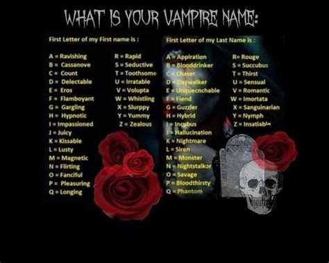 What is Your Vampire Name   Black   Pinterest   Dragon