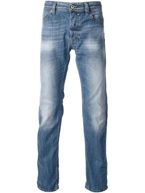 Diesel Stone Washed Jeans in Blue for Men | Lyst