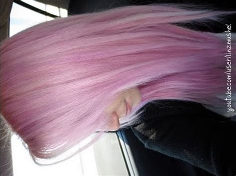 Dying My Hair Pastel Pink - YouTube