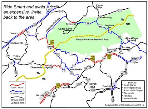 Regional Law Enforcement Areas – Tail of the Dragon Maps