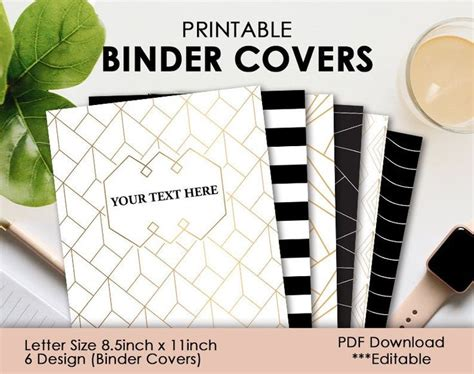 Binder Cover Printable   Instant Download   Subject Cover