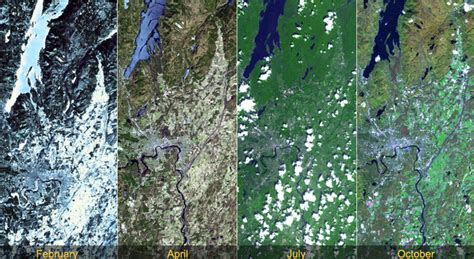 Student Slideshow: The Change of Seasons: Views from Space