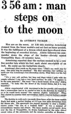 21 July 1969: Man walks on the moon   From the Guardian