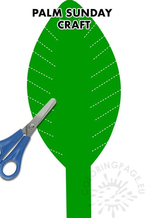 Palm Sunday leaf Craft ideas – Coloring Page