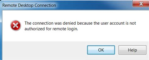 KB Parallels: The connection was denied because the user