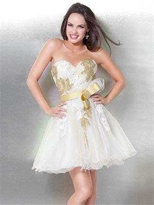 Strapless A-line Sweetheart Embroidery Ruffed Ivory/Gold