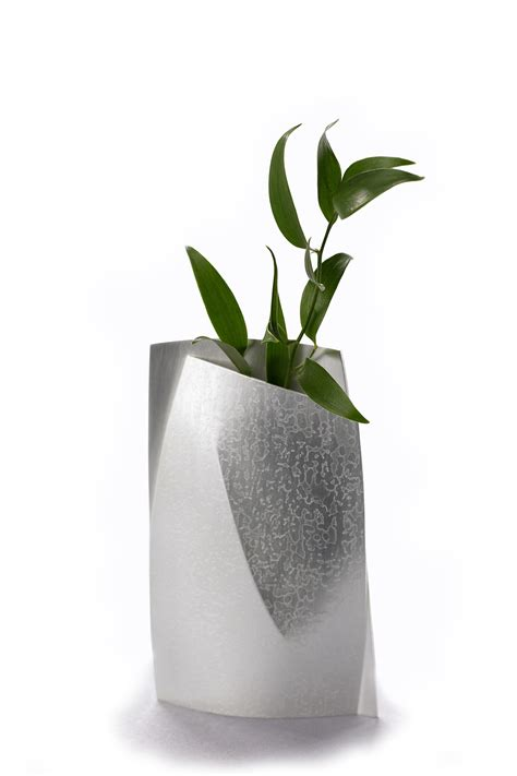 Small Etched Bud Vase - Vases & Ornamental - Silver   Miratis