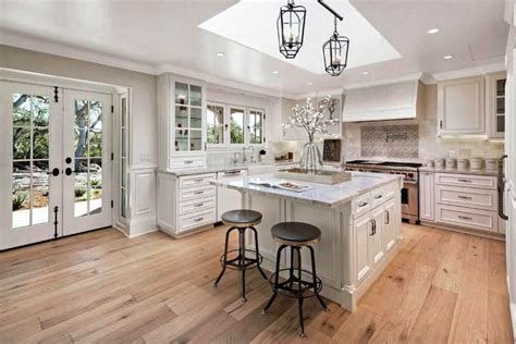27 Kitchens with Light Wood Floors [Many Wood Types