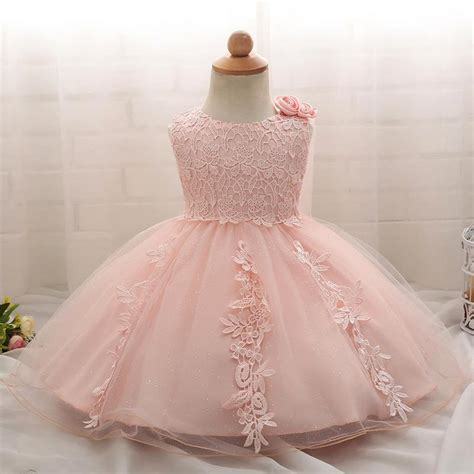 Baby Girl 1 Years Birthday Baptism Dress For Girl Party