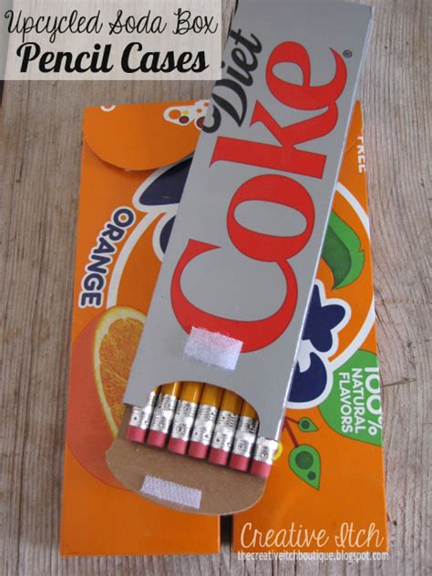 Upcycled Soda Box Pencil Boxes - The Well-Appointed Desk