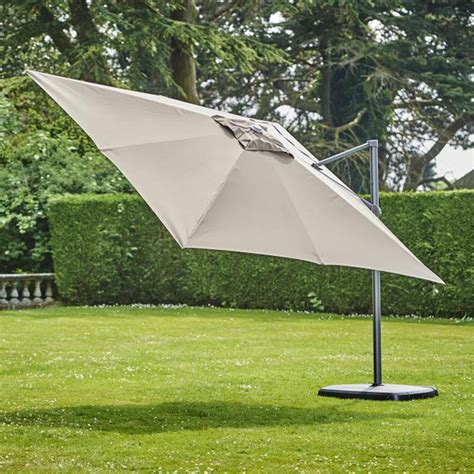 Provence Deluxe 3x3 Square Parasol Inc Cover Taupe (Bronze